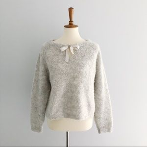 Wrap London Alpaca Sweater With Silk Ribbon